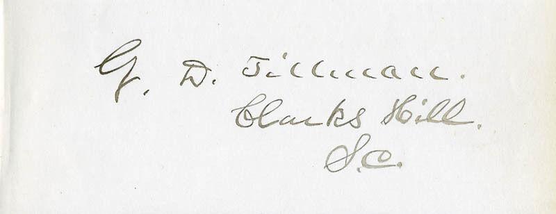 GEORGE D. TILLMAN - SIGNATURE(S)