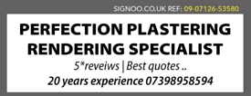 Perfection plastering5*****damp proofing specialist *****