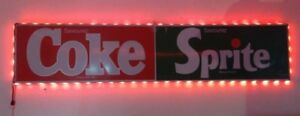 Grande Enseigne illuminée Coke / Sprite (En Métal) 1980