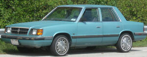80's K Car Dodge Aries or Plymouth Reliant