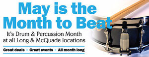 FREE Events and Deals during Drum Month @ Long and McQuade