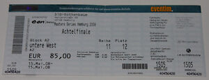 Ticket for collectors ATP Masters Hamburg Djokovic Nadal Federer Murray * TENNIS - <span itemprop='availableAtOrFrom'>Poznan, Polska</span> - Ticket for collectors ATP Masters Hamburg Djokovic Nadal Federer Murray * TENNIS - Poznan, Polska