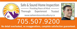 Safe & Sound Home Inspection - Trusted professional inspector.