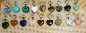 Chakra heart shaped necklaces