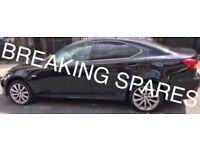 Lexus is220d any door complete + window + motor + handle 06+ breaking spares