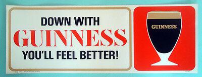 Rare Guinness Window Poster, c1966