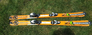 Rossignol Radical 130 ski's with bindings.  Pair of Lange Boots
