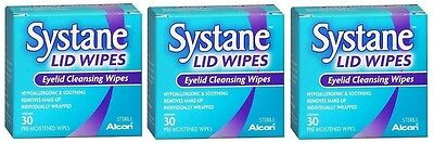 3 Pack Systane Lid Wipes Eyelid Cleansing Wipes 30 Count ...