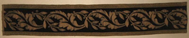 Antique Beautiful Late 18th/Early 19th C. Portuguese Velvet Applique  (9241)
