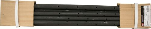 "CONCRETE FORMING ROUND STEEL STAKES WITH HOLES 3/4"" NOMINAL X 24"" 10 PACK"