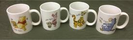 4 x new Winnie the Pooh & friends cup set