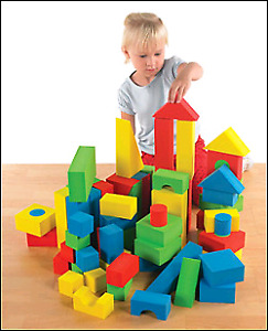 Non-Marring Toy Building Blocks