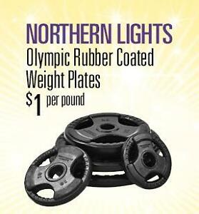 Northern Lights Olympic Rubber Coated Weight Plates WPOR