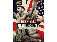 UFC 204 weigh in tickets for bisping vs henderson in manchester price is for 2 tickets