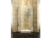 Unused, still in packaging quadrant shower enclosure, tray & waste pack from Cooke & Lewis range
