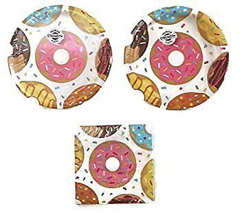 Donut Time Party Plates (16) Napkins (16) Party Bundle (Donut Plates)