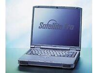 Old Toshiba Satellite Pro 4600 laptop.