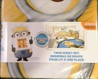 NEW Minions Cotton Single sheet set in original package