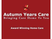 Autumn Years Care - Home Care Workers Required £12 per hour - Come Join The Smile Generators