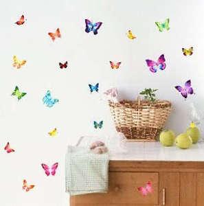Adesivi-Murali-Farfalle-Colorate-Per-Decorazione-Parete