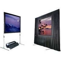 """7'5"""" x 10' Projection Screen - Complete with Black Dress Kit!!!"""