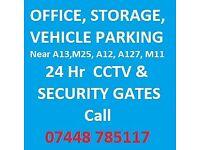 UNIT, OFFICE, GYM, PARKING, WORKSHOP, YARD, STORAGE, CCTV, A13 A12 M25
