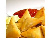 HOME MADE SAMOSA AND SPRING ROLLS