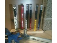 Golf Grips and Re shaft.