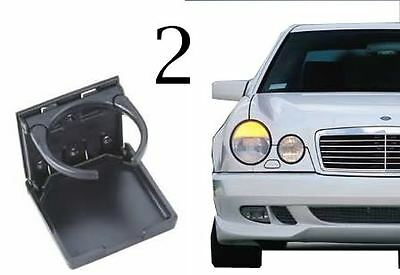 2 BLACK MERCEDES BENZ STOCK FACTORY LOOK E300 CUPHOLDER CUP DRINK HOLDER W124 (Mercedes Benz Cup)