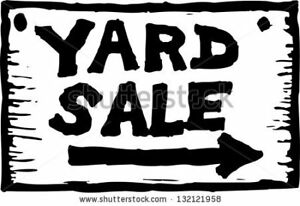 Yard sale Saturday March 17th