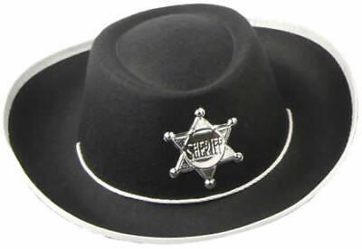 Hut Cowboy schwarz Karneval Hüte Kinder Gr 54