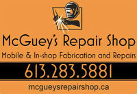 McGuey's Repair Shop - In-shop or mobile welding services