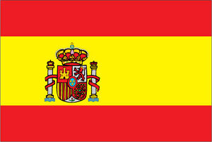 SPAIN / SPANISH FLAG STICKER Car Bumper Vinyl  - 10 cm x 6 cm