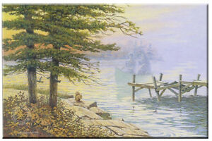 October Return Limited Edition Print By James Lumbers Canoeing/L