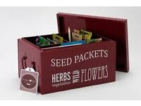 Burgon & Ball metal seed burgundy box