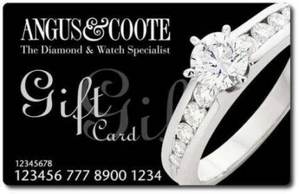 Angus and Coote Gift Card $250 value for only $200