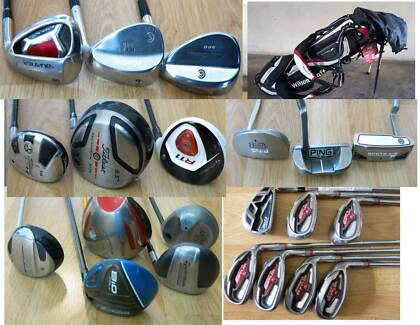Mens/Ladies Ping ,Calllaway  Irons, Putters Golf Clubs. R.H & L.H