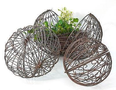 dekokugeln metall kugeln reliefs pinienzapfen ebay. Black Bedroom Furniture Sets. Home Design Ideas