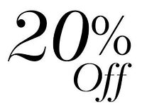 20% off first visit