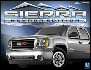 Gmc Sierra Nevada Edition Emblems Set New 2007 2013 Badges