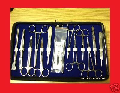 103 Pcs Minor Micro Surgery Student Kit Veterinary Surgical Dental Instruments