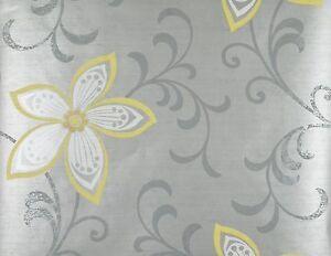 Modern Floral Wallpaper Ebay