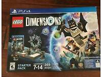 LEGO DIMENSIONS STARTER PACK PS4 BRAND NEW SEALED