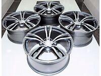 """4x 18"""" BMW M6 Alloy Wheels 1 2 3 4 5 6 Series m1 m2 m3 m4 m5 m6 m sport E46 E90 E91 E92 E81 E82 E87"""