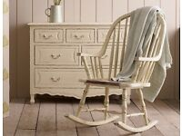LAURA ASHLEY BRAMLEY CREAM ROCKING CHAIR