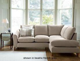 LAURA ASHLEY Baslow Upholstered Corner Sofa Group Right Hand- Beatrix French Grey ORIGINALLY £2150