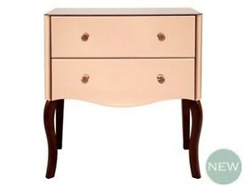 NEW! LAURA ASHLEY ARIELLE Chest of Drawers bedside table rose pink mirror AL