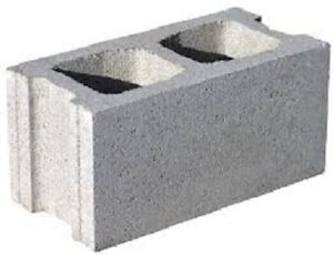 Eight cinder blocks