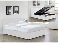 ⚡️⚡️ALL SIZES AVAILABLE⚡️⚡️BRAND NEW DOUBLE OTTOMAN STORAGE BED FRAME ( BLACK,BROWN & WHITE )