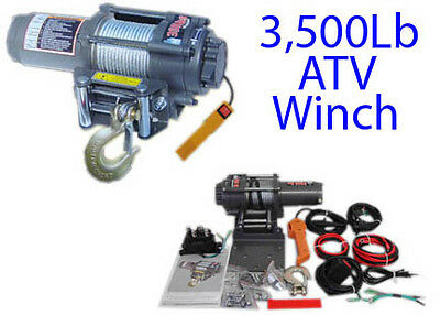 3500Lb ATV UTV Truck Electric Winch Kit Solenoid Remote Rocker Switch 3000 2500